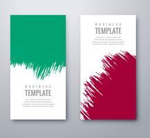 Bannières colorées grunge abstraite définie vecteur