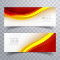 Illustration vectorielle abstrait bannière colorée modèle