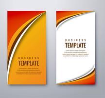 Bannières ondulées colorées abstraites définies modèle de conception