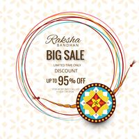 Grande bannière de vente ou affiche pour le festival indien de raksha bandhan vecteur