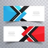Bannières colorées abstraites définies design créatif vecteur