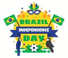 Vecteur de jour indépendant du Brésil