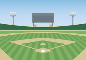 Illustration vectorielle de baseball park vecteur