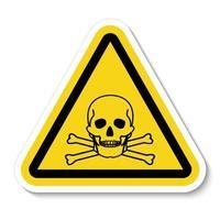 signe de symbole de matière toxique vecteur
