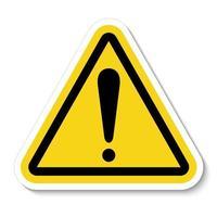 signe d'avertissement de symbole vecteur