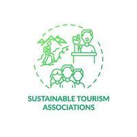 icône de concept d'associations de tourisme durable vecteur