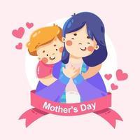 conception de la fête des mères heureuse vecteur