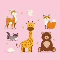 collection de personnages animaux vecteur