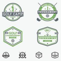 ensemble de modèles de conception de logo de club de golf badges vector