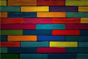 résumé, fond, ensemble, collection, couleurs, mur brique vecteur