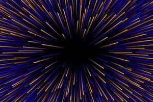 vitesse de l'éclatement d'étoiles jaune et bleu vecteur