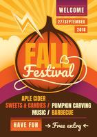 Festival d'automne vecteur