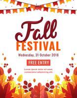 Affiche du Festival d'automne vecteur