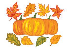 Éléments de design du festival d'automne vecteur