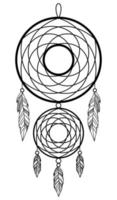 Image isolée d'un capteur de rêves sur fond blanc vecteur