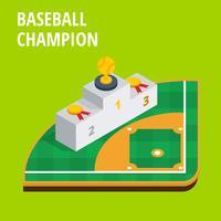 Isométrique, champion de baseball vecteur