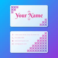 Conception d'entreprise de carte de visite féminine