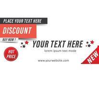 offre de réduction de modèle de vente de bannière publicitaire vecteur