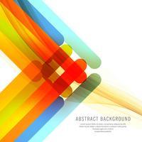 Arrière-plan de lignes colorées abstraites vecteur