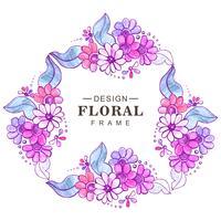 Fond floral coloré de mariage abstrait vecteur