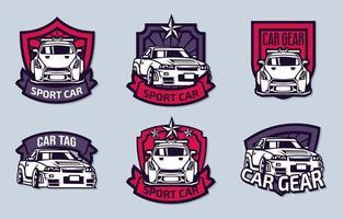 collections de logo de voiture de sport vecteur