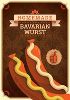 Nourriture bavaroise vecteur