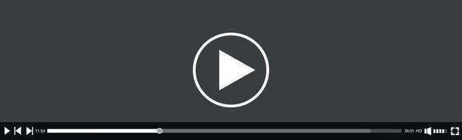 modèle d'interface de lecteur vidéo et multimédia - vecteur