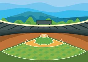 Illustration vectorielle de baseball park