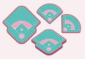 Parc de baseball vecteur