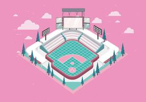 Parc de baseball 3D vecteur
