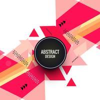 Abstrait coloré forme triangulaire vecteur