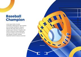 Interface de gant de baseball vecteur