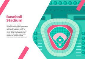Interface de vue de dessus du stade de baseball vecteur