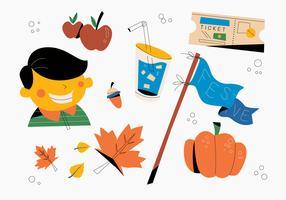 Happy Fall Festival Design Matériel Vector Illustration plat