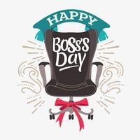 Illustration d'une chaise de bureau de patron pour la journée du patron
