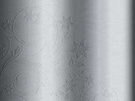 motif floral sur métal