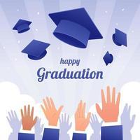 fond de chapeau de graduation vecteur