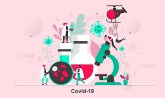 conception de concept web covid19 en illustration vectorielle style plat vecteur