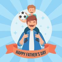 fond de fête des pères vecteur