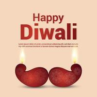 joyeux festival de diwali de lumière avec illustration vectorielle sur fond créatif vecteur