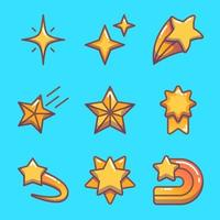 collection d & # 39; icônes étoiles vecteur
