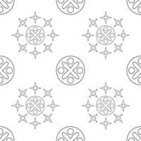ornement géométrique de modèle sans couture noir et blanc vecteur