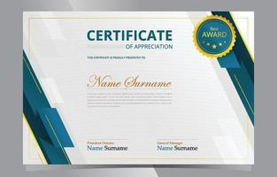 modèle de certificat d'appréciation moderne vecteur