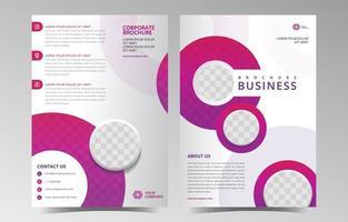 modèle de brochure abstrait violet arrondi vecteur