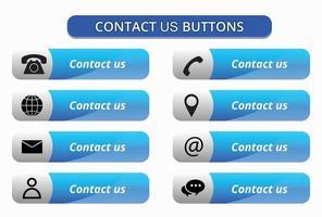 contactez-nous boutons vecteur