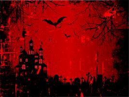 Fond Halloween Grunge vecteur