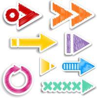 dessins de flèche griffonnés