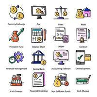 finance et commerce électronique vecteur