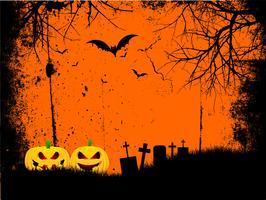 fond grunge halloween vecteur