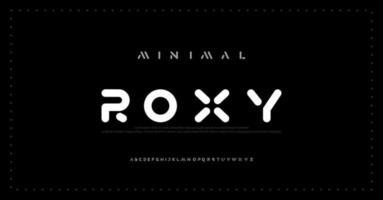 polices d'alphabet minimalistes modernes. typographie minimaliste mode numérique urbaine future police de logo créatif vecteur